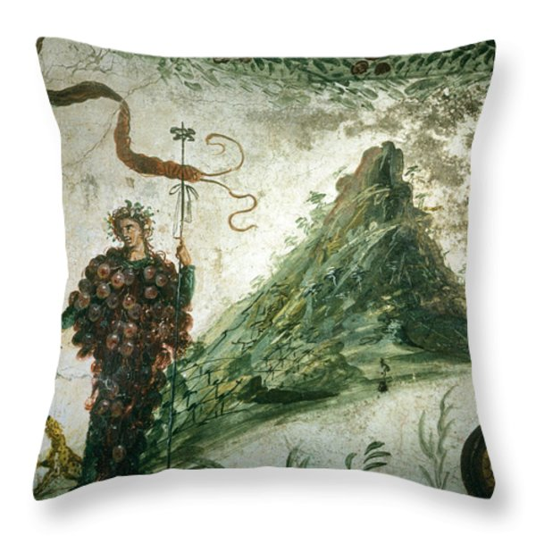 Bacchus, Roman God Of Wine, Stands Throw Pillow by O. Louis Mazzatenta
