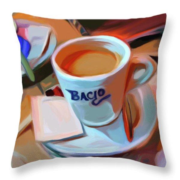 Bacio Throw Pillow by Patti Siehien