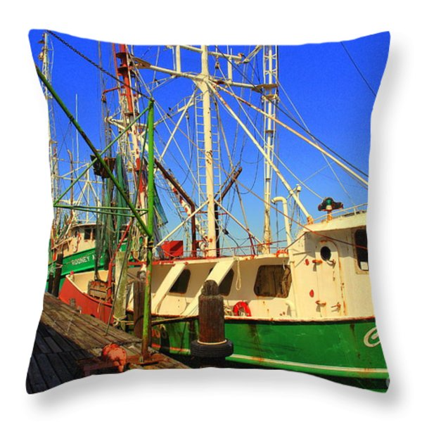 Back In The Harbor Throw Pillow by Susanne Van Hulst