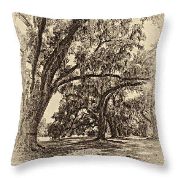Back to the Future antique sepia Throw Pillow by Steve Harrington