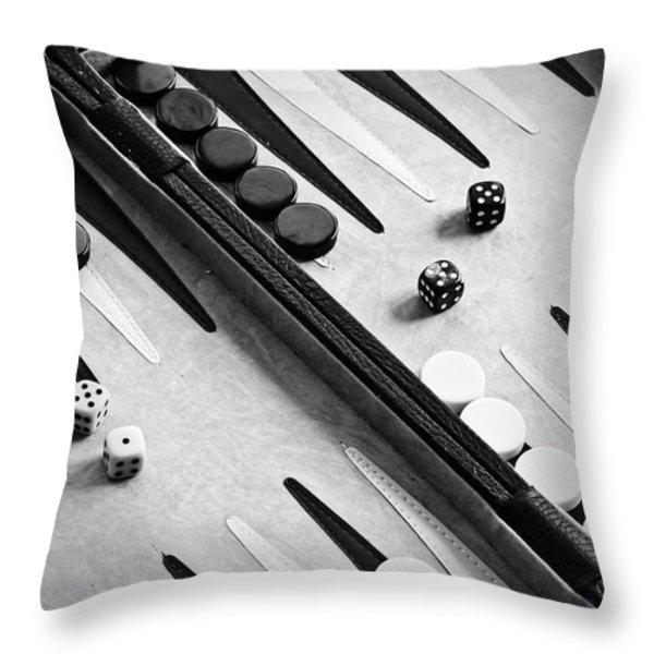 Backgammon Throw Pillow by Joana Kruse