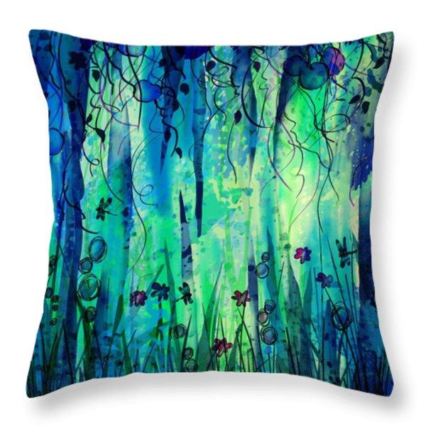 Backyard Dreamer Throw Pillow by Rachel Christine Nowicki