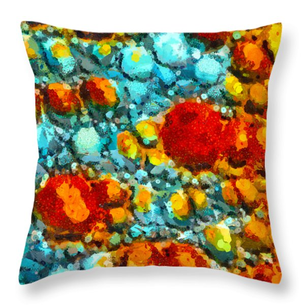 Bacteria 5 Throw Pillow by Angelina Vick