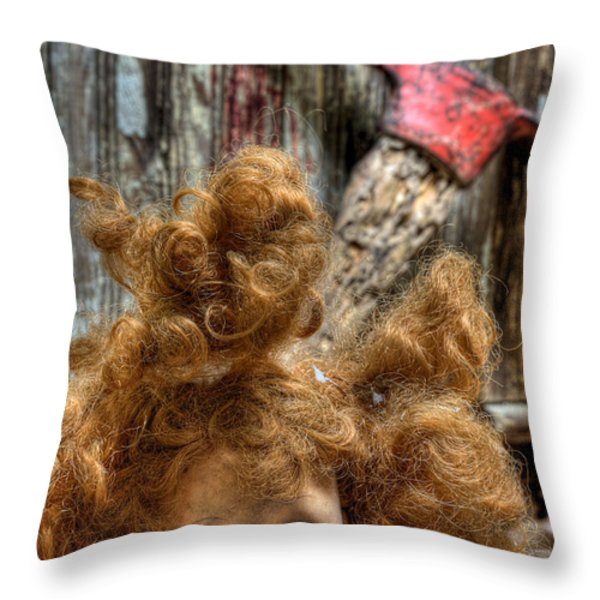 Bad Hair Day Throw Pillow by JC Findley