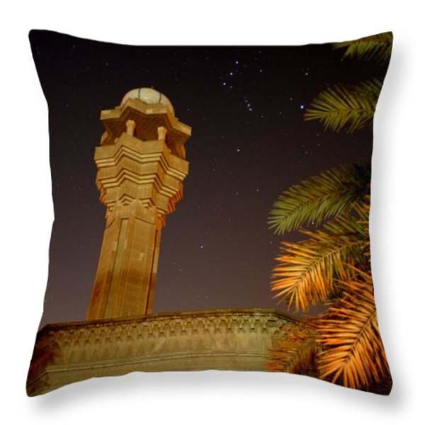 Baghdad Night Sky Throw Pillow by Rick Frost