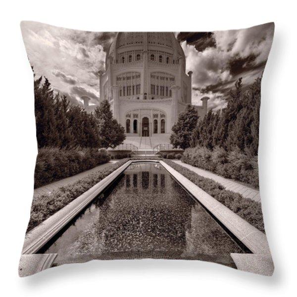 Bahai Temple Reflecting Pool Throw Pillow by Steve Gadomski
