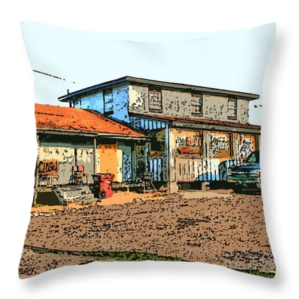 Bait Shop Throw Pillow by Barry Jones