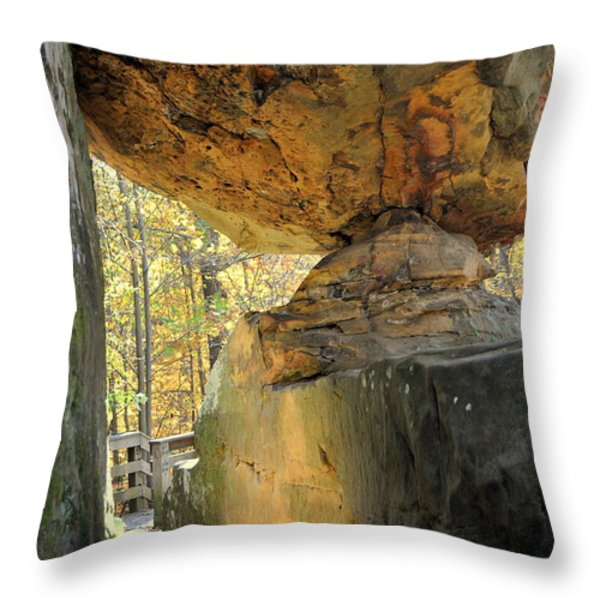 Balanced Rock Throw Pillow by Marty Koch