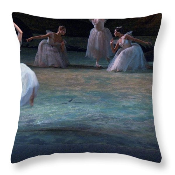 Ballerinas At The Vaganova Academy Throw Pillow by Richard Nowitz