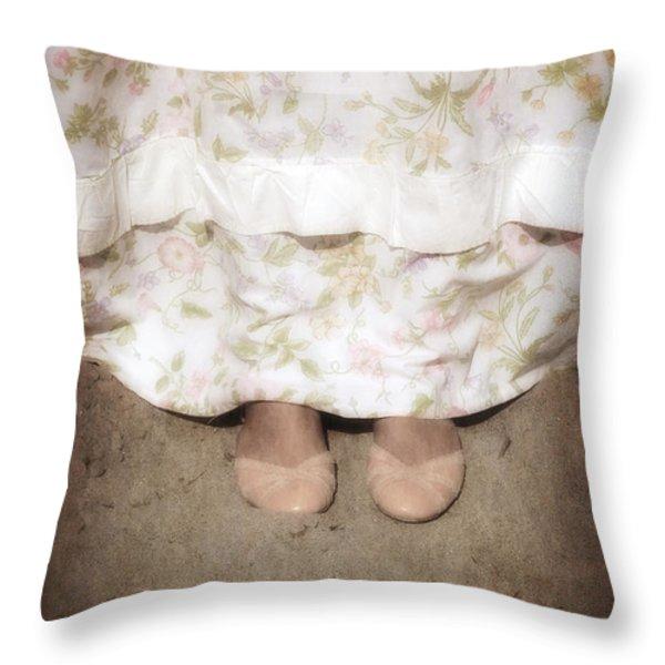 ballerinas Throw Pillow by Joana Kruse