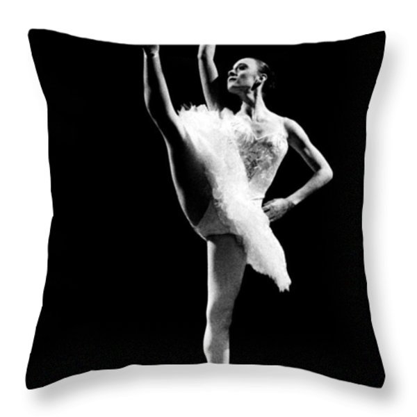 Ballet Dance 3 Throw Pillow by Sumit Mehndiratta