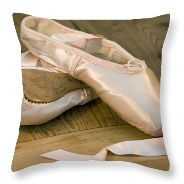 Ballet shoes Throw Pillow by Jane Rix