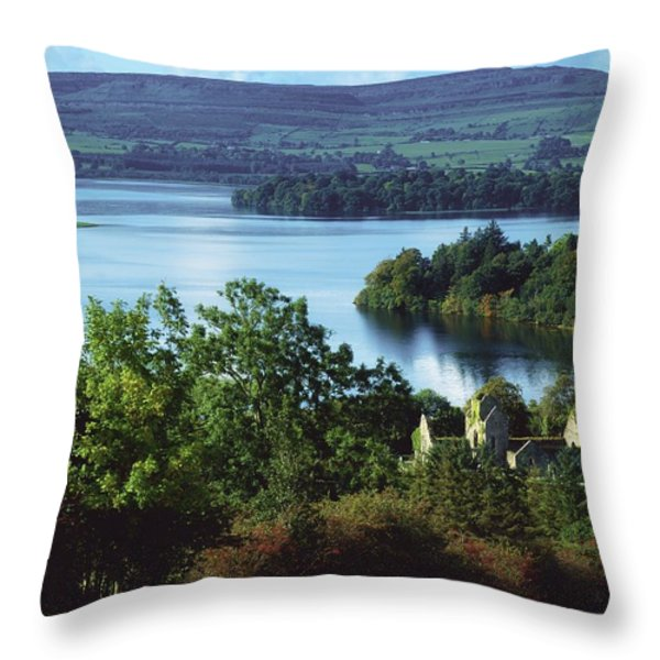 Ballindoon Abbey, Lough Arrow, County Throw Pillow by The Irish Image Collection