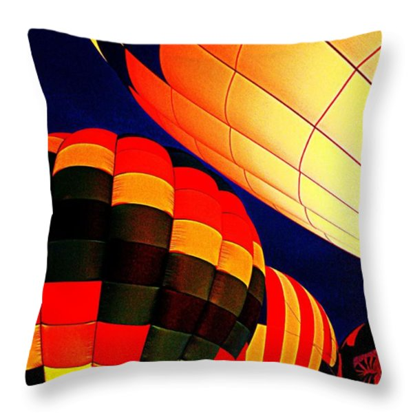 Balloon Glow 1 Throw Pillow by Marty Koch