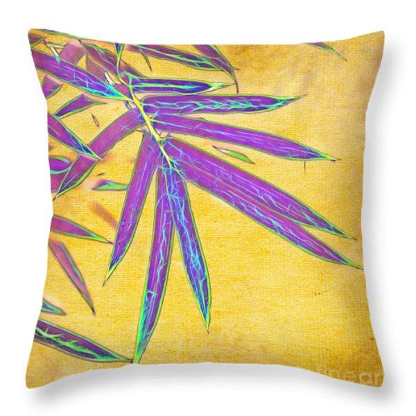 Bamboo Batik II Throw Pillow by Judi Bagwell