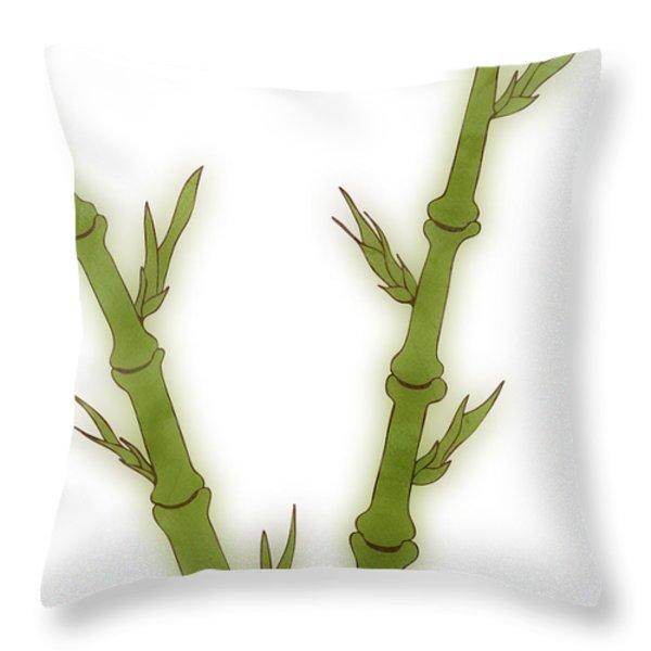 Bamboo Throw Pillow by Frank Tschakert
