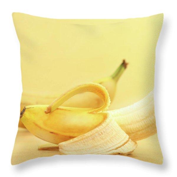 Bananas Throw Pillow by Sandra Cunningham