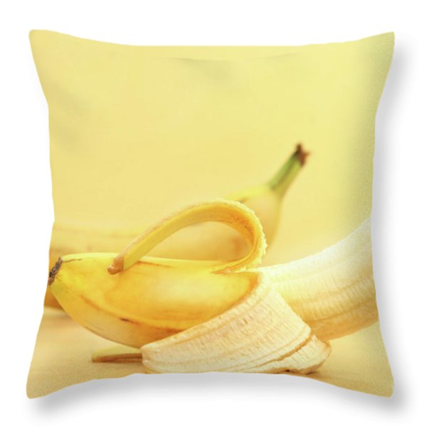 Bananas Throw Pillow by Sandra Cunningham