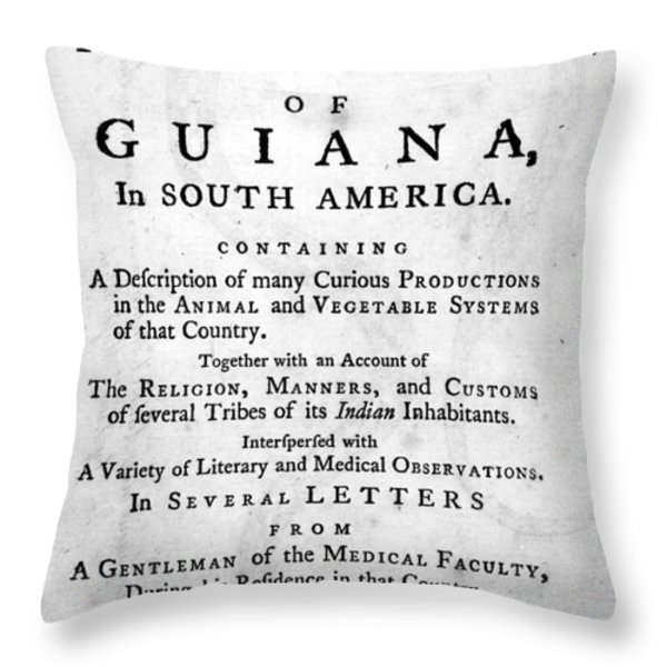 Bancroft: Title Page, 1769 Throw Pillow by Granger
