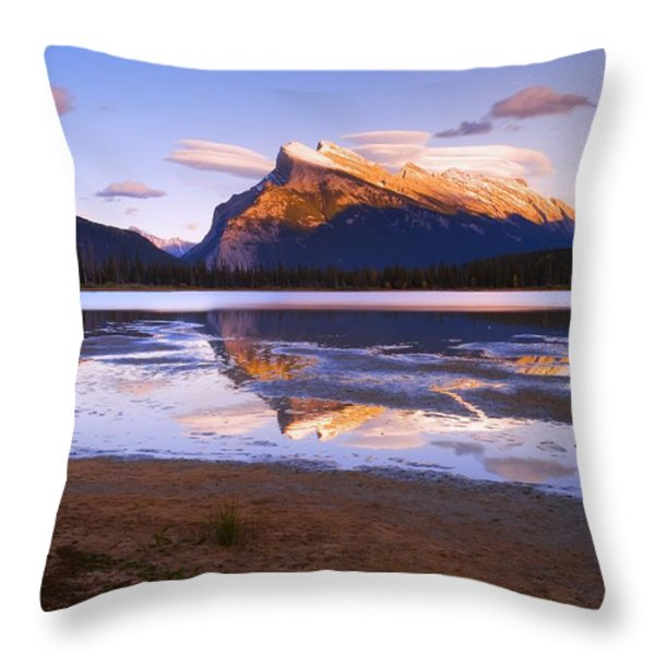 Banff National Park, Alberta, Canada Throw Pillow by Carson Ganci