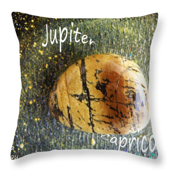 Barack Obama Jupiter Throw Pillow by Augusta Stylianou