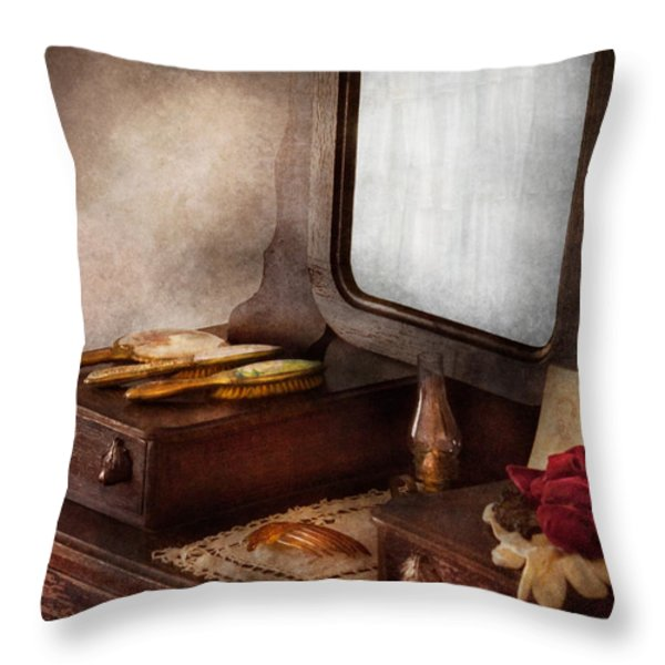 Barber - Everything You Need To Look Beautiful Throw Pillow by Mike Savad