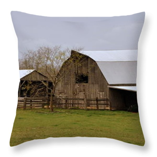 Barn in the Ozarks Throw Pillow by Marty Koch