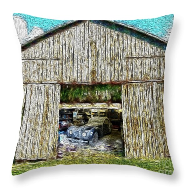 Barn Treasures Throw Pillow by Cheryl Young