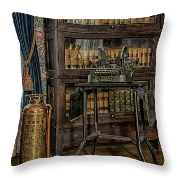 Barrister's Home Office Throw Pillow by Lynn Palmer