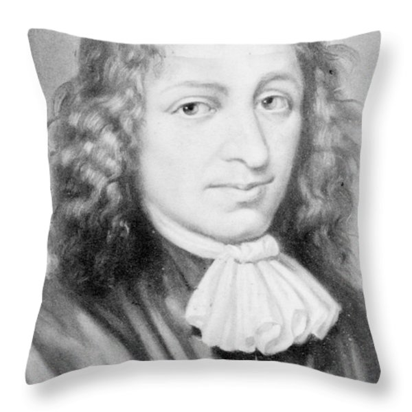 Baruch Spinoza, Jewish-dutch Philosopher Throw Pillow by Photo Researchers