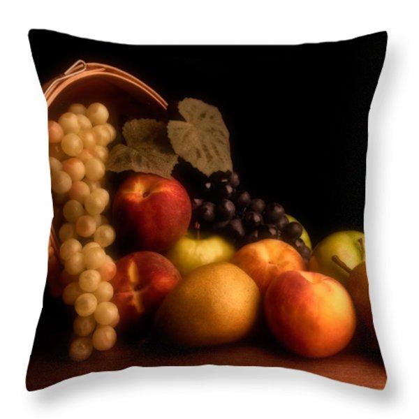 Basket of Fruit Throw Pillow by Tom Mc Nemar
