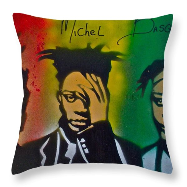 Basquait Me Myself And I Throw Pillow by Tony B Conscious
