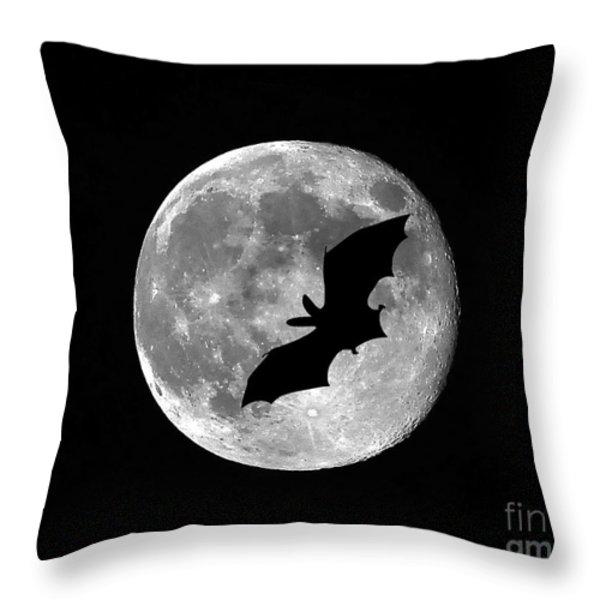 Bat Moon Throw Pillow by Al Powell Photography USA