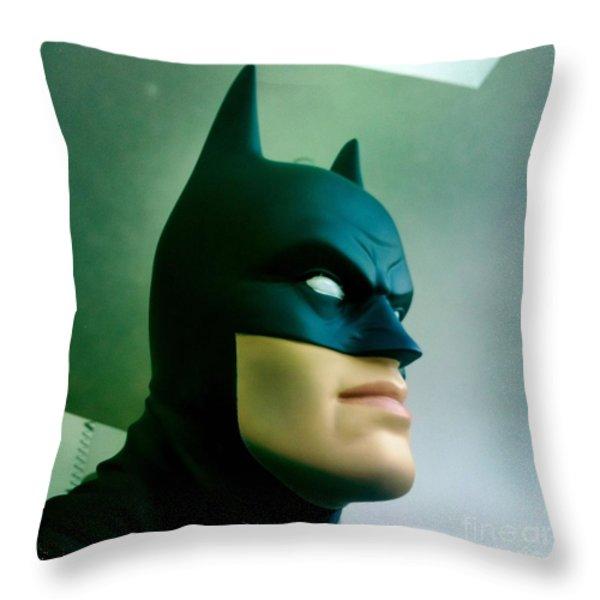 Batman aka The Dark Knight Throw Pillow by Nina Prommer