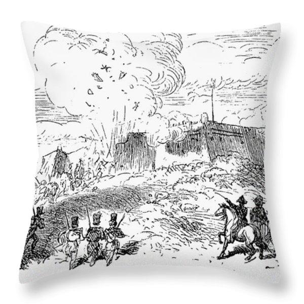 Battle Of Fort Erie, 1814 Throw Pillow by Granger