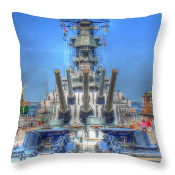 Battleship Throw Pillow by Dan Stone