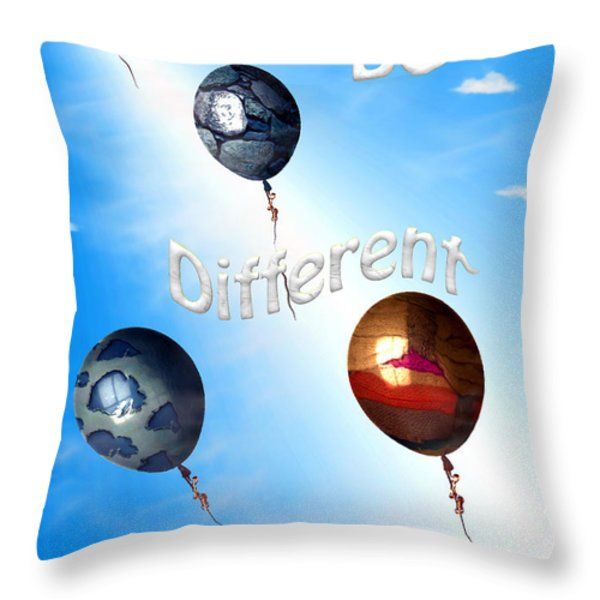 Be Different Throw Pillow by Cheryl Young