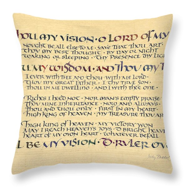 Be Thou My Vision Throw Pillow by Judy Dodds