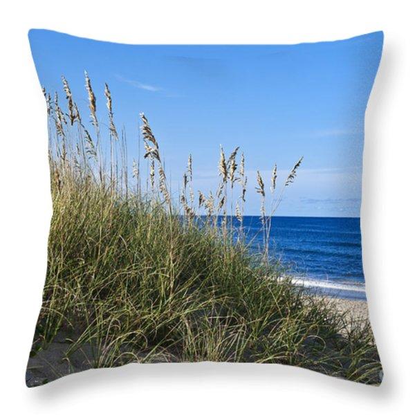 Beach dunes. Throw Pillow by John Greim