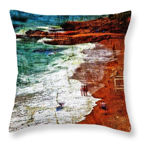 Beach Fantasy Throw Pillow by Madeline Ellis