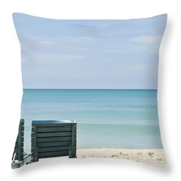 Beach Life Throw Pillow by Georgia Fowler