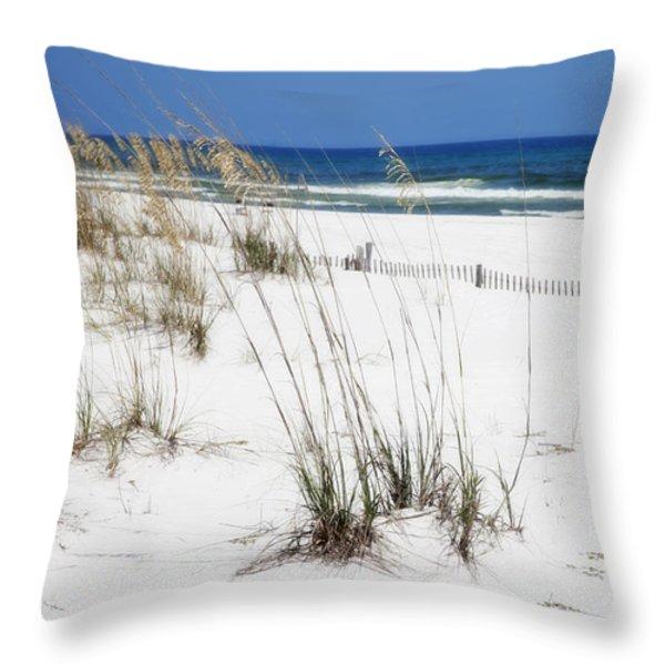 Beach No. 5 Throw Pillow by Toni Hopper
