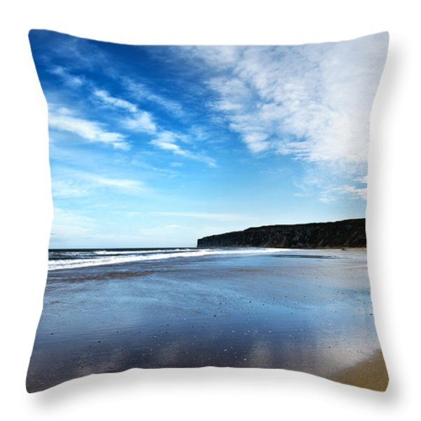 Beach Throw Pillow by Svetlana Sewell