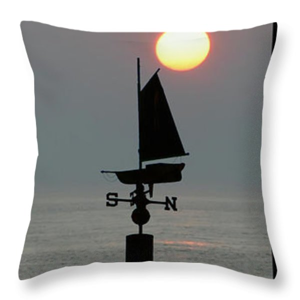 Beach Weather Throw Pillow by Bill Cannon
