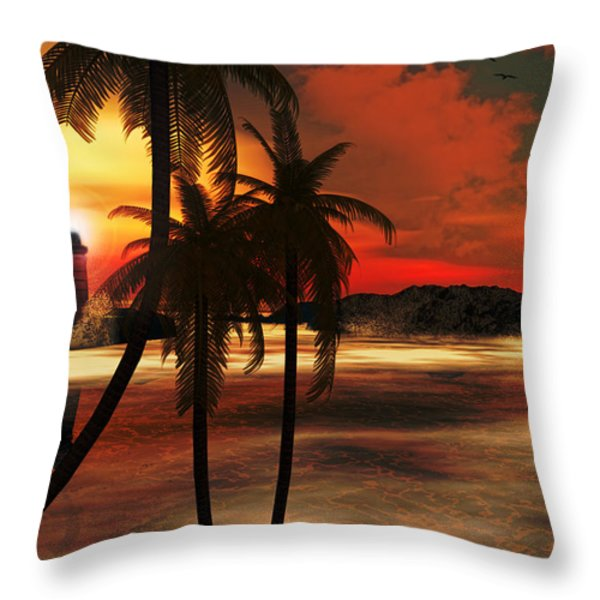 Beacon Of Light Throw Pillow by Lourry Legarde