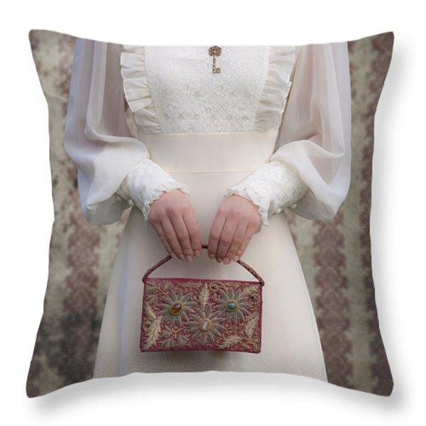 Beaded Handbag Throw Pillow by Joana Kruse