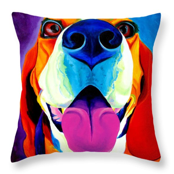 Beagle - Saphira Throw Pillow by Alicia VanNoy Call