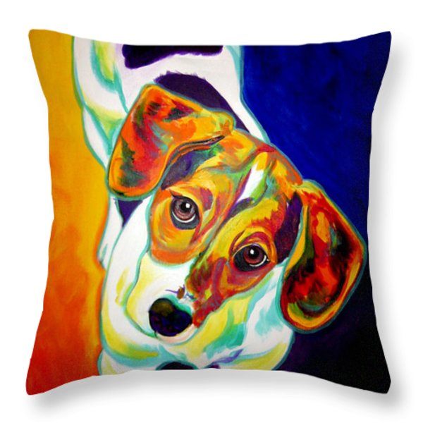 Beagle - Scooter Throw Pillow by Alicia VanNoy Call
