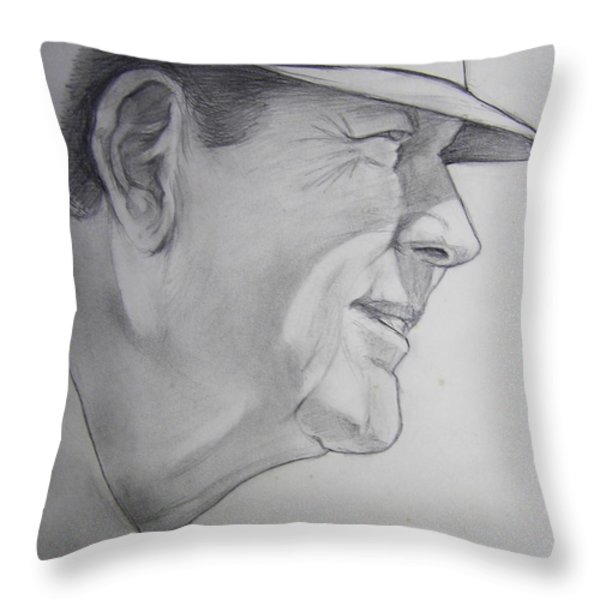 Bear Bryant Throw Pillow by Nigel Wynter
