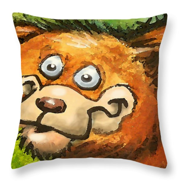 Bear Throw Pillow by Kevin Middleton